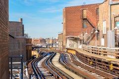 Повышенные следы в Чикаго Стоковые Изображения RF