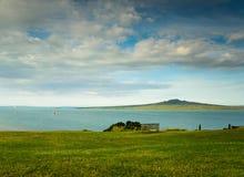 Повышенный взгляд острова Rangitoto Стоковое фото RF