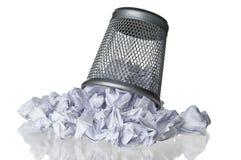 Погань бумаги мусорной корзины Стоковые Фото