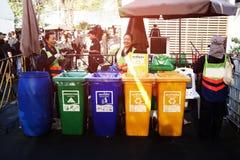 Погань кладя обслуживание публично: Пищевые отходы, общий отход, Rec Стоковые Изображения RF