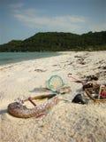 Погань на пляже Стоковые Изображения