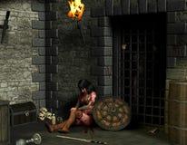 поглощенный dungeon Стоковое Изображение
