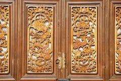погнанные окна деревянные Стоковое фото RF