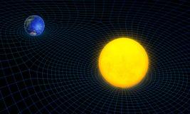 Погнутость пространственно-временного континуума бесплатная иллюстрация