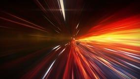 Погнутость пространственно-временного, полет в черную дыру, горизонт событий бесплатная иллюстрация