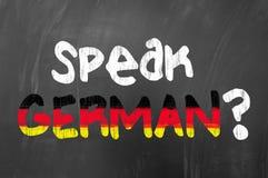 Поговорите немца? Стоковое фото RF