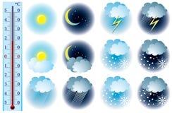 погода вектора икон Стоковые Изображения
