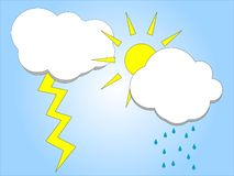 погода вектора иллюстрации Стоковое Фото