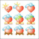 погода вектора сердец Стоковая Фотография
