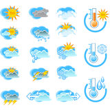 погода вектора icone прогноза Стоковое Фото