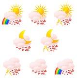 погода влюбленности икон Стоковые Фотографии RF