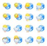 погода влюбленности икон Стоковые Изображения