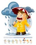 погода дождя иконы Стоковые Изображения