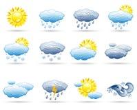 погода иконы установленная Стоковое Фото