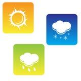погода иконы установленная Стоковые Фотографии RF