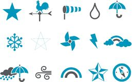 погода иконы установленная иллюстрация вектора