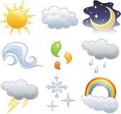 погода иконы Стоковые Изображения RF