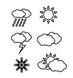 погода иконы Стоковые Фото