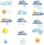 погода икон прогноза Стоковая Фотография
