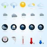 погода икон Стоковые Фотографии RF