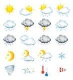 погода икон Стоковое Фото