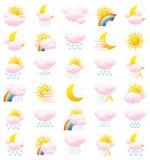 погода икон Стоковые Изображения