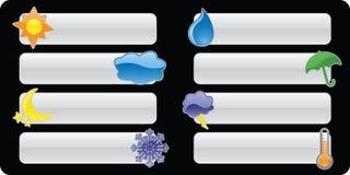 погода кнопок знамен лоснистая Стоковое Фото