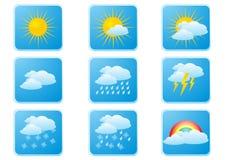 погода кнопок Стоковое Изображение
