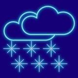 Погода Облака и снежинки Стоковые Изображения RF