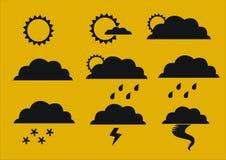 погода символов условия Иллюстрация штока