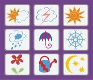 погода символов Стоковое Фото