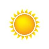 погода солнца иконы Стоковое Изображение RF