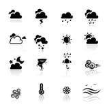 погода установленная иконами Стоковые Изображения