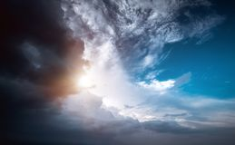 Погода шторма неба урагана стоковые фото