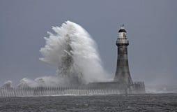 погода roker маяка stomy Стоковая Фотография RF