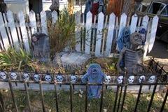 Погост зомби хеллоуина Стоковые Фотографии RF