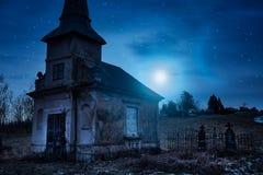 Погост ночи стоковая фотография