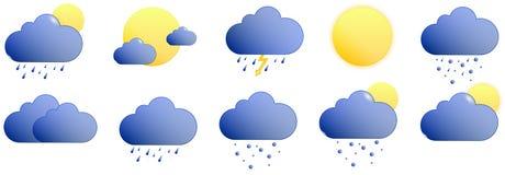 Погода значков Стоковые Фото
