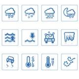 погода иконы ii Стоковое Изображение RF