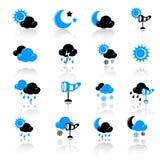 погода икон Стоковые Фото