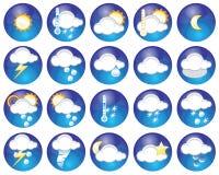 погода икон Стоковая Фотография