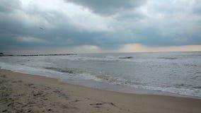Погода морского захода солнца хмурая штормовая погода Погода Облако акции видеоматериалы