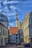 погода лопасти городка башни thomas залы старая стоковое изображение