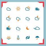 погода серии рамки Стоковое Изображение