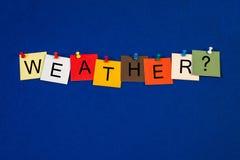 Погода - серия знака. Стоковое Изображение