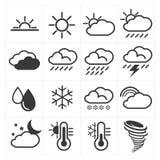 погода солнца дождя икон облака Стоковое Изображение