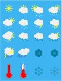 погода солнца дождя икон облака стоковая фотография