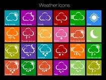 погода солнца дождя икон облака Стоковые Фотографии RF
