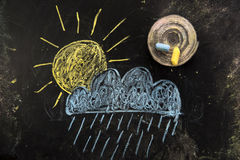 погода солнца дождя икон облака Стоковые Изображения RF