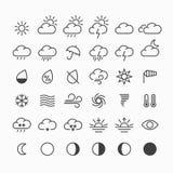погода солнца дождя икон облака иллюстрация вектора